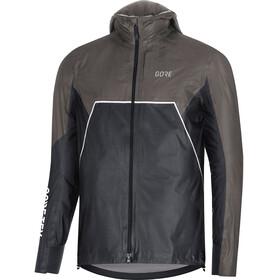GORE WEAR R7 Gore-Tex Shakedry Trail Hooded Jacket Men black/lava grey